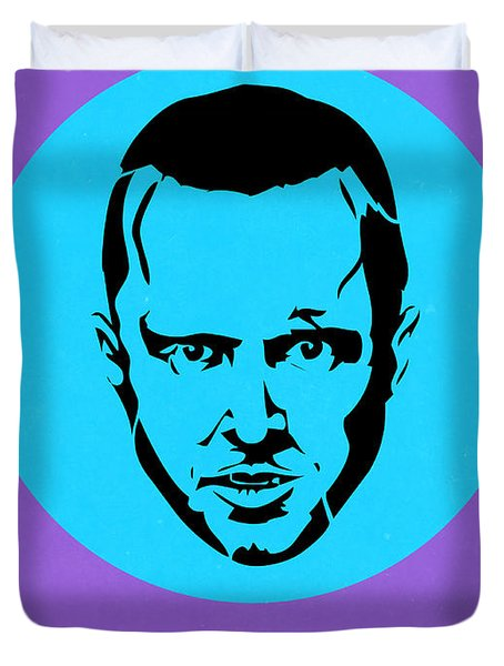 Jesse Breaking Bad Poster 1 Duvet Cover by Naxart Studio