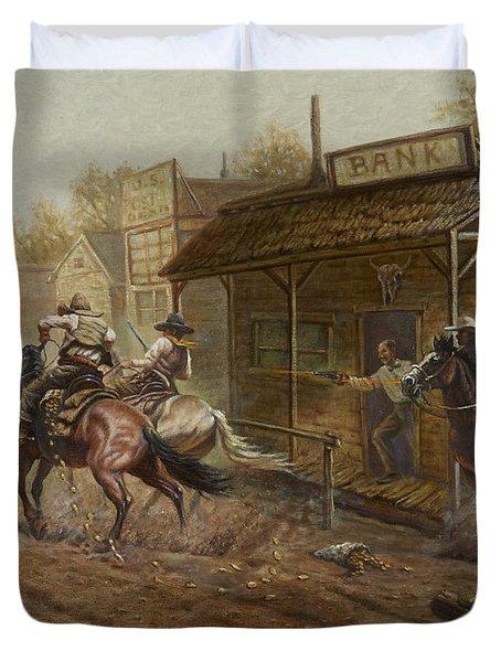 Jesse James Bank Robbery Duvet Cover