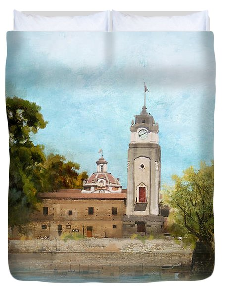 Jesuit Block And Estancias Of Cordoba Duvet Cover by Catf