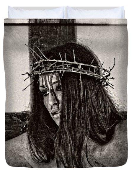 Jesus Christ Portrait Duvet Cover