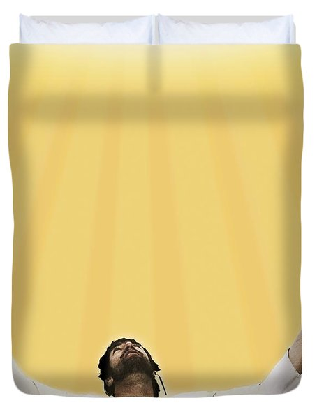 Jesus Cries Out To Heaven Duvet Cover by Kelly Redinger
