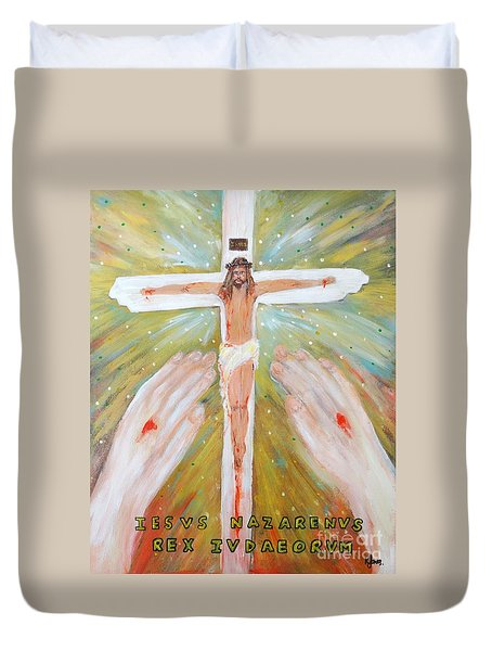Jesus - King Of The Jews Duvet Cover