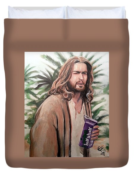 Jesus Lebowski Duvet Cover by Tom Carlton