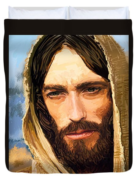 Jesus Of Nazareth Portrait Duvet Cover