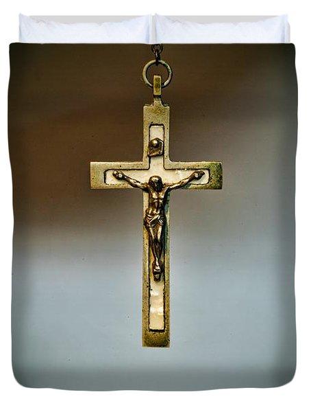 Jesus On The Cross 1 Duvet Cover by Paul Ward