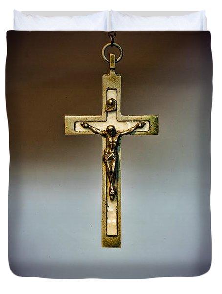 Jesus On The Cross 2 Duvet Cover by Paul Ward
