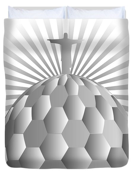 Jesus Redeemer Duvet Cover by Michal Boubin