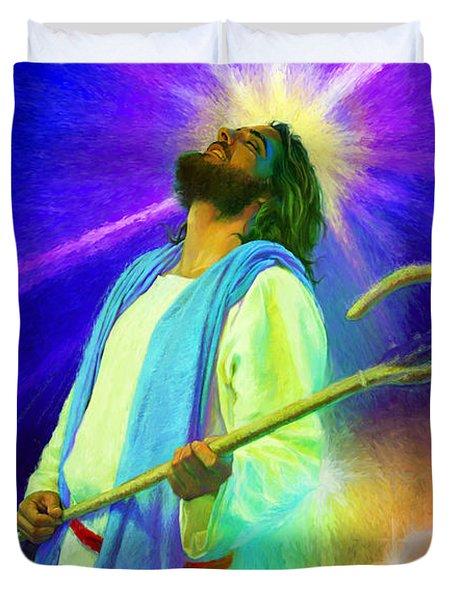 Jesus Rocks Duvet Cover