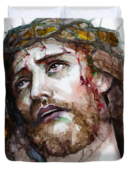 The Suffering God Duvet Cover by Laur Iduc