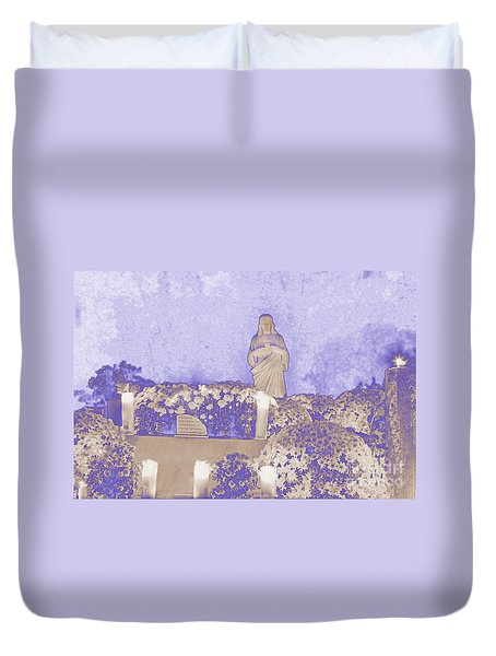 Duvet Cover featuring the photograph All Saints Day In Lacombe Louisiana by Luana K Perez