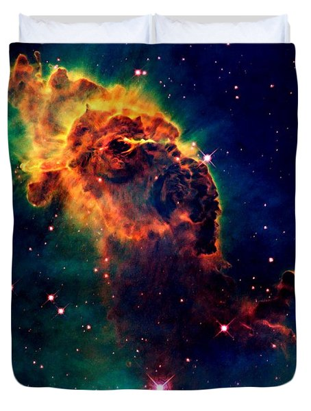 Jet In Carina Duvet Cover by Amanda Struz