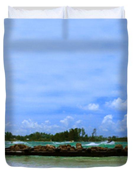 Jet Skis In Longboat Pass Duvet Cover