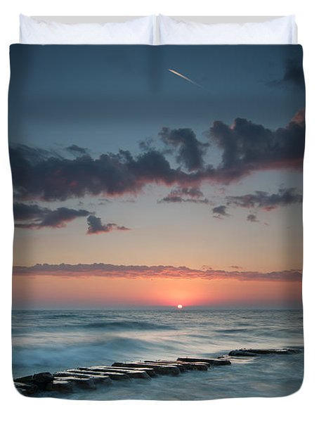 Jetty And The Sun Duvet Cover