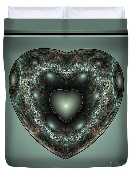 Jewel Heart Duvet Cover