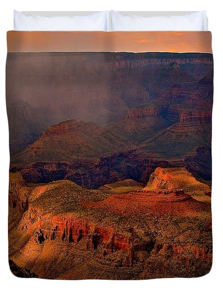 Jewel Of The Grand Canyon Duvet Cover by Jim Hogg