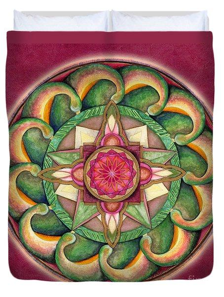 Jewel Of The Heart Mandala Duvet Cover