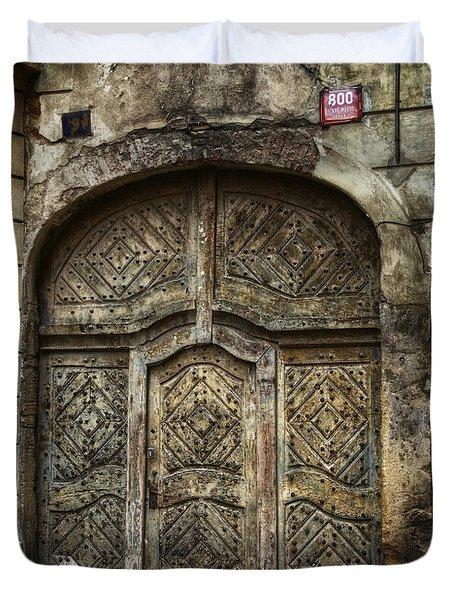 Jewish Quarter Doorway Duvet Cover