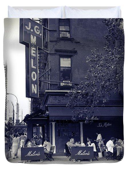 J.g. Melon - Manhattan  Duvet Cover by Madeline Ellis
