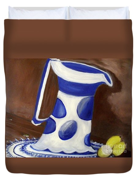 Duvet Cover featuring the painting Fresh Lemonade by Laurie Lundquist