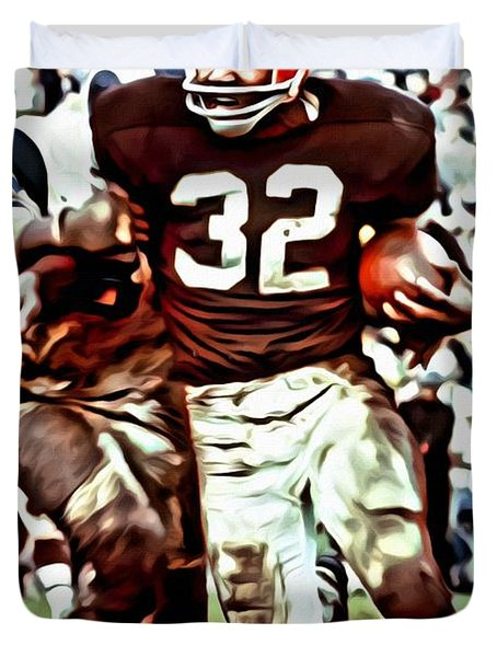 Jim Brown Duvet Cover