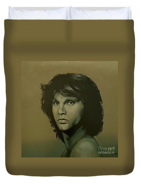 Jim Morrison Painting Duvet Cover