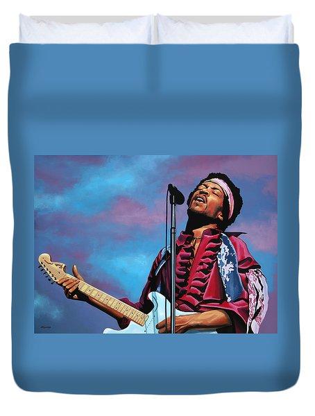 Jimi Hendrix 2 Duvet Cover by Paul Meijering