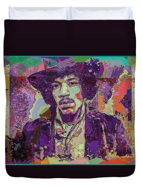 Jimi Hendrix Duvet Cover by Eleni Mac Synodinos
