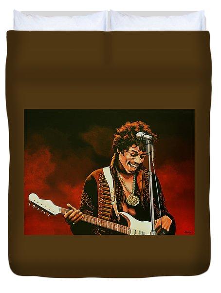 Jimi Hendrix Painting Duvet Cover
