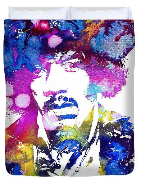 Jimi Hendrix - Psychedelic Duvet Cover
