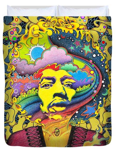 Jimi Hendrix Rainbow King Duvet Cover