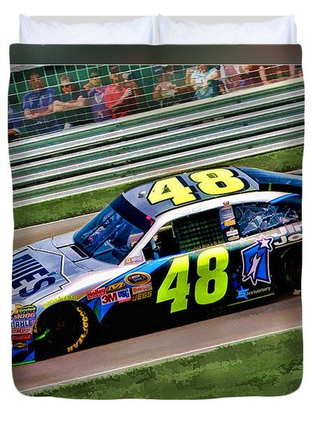 Jimmie Johnson Duvet Cover