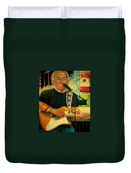 Jimmy Buffett In Paris Duvet Cover by Bernadette Krupa