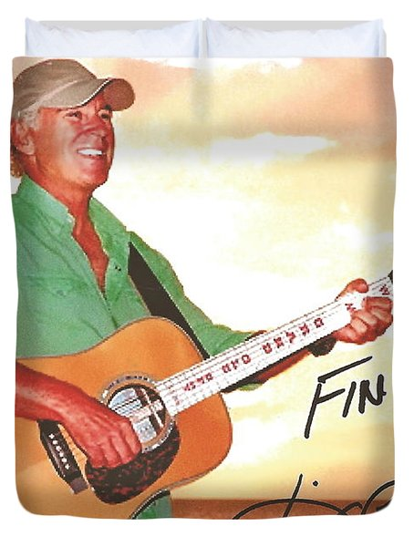 Jimmy Buffett Sunset With The Grand Old Opry  Duvet Cover