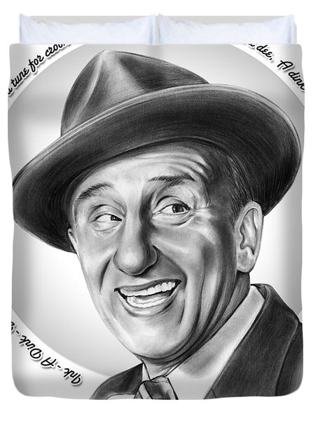 Jimmy Durante Duvet Cover by Greg Joens