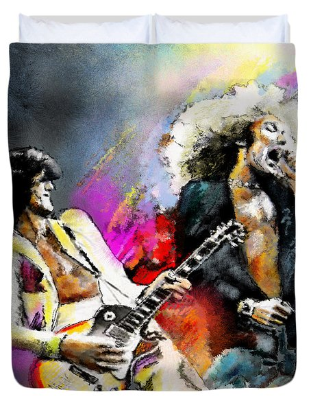 Jimmy Page And Robert Plant Led Zeppelin Duvet Cover
