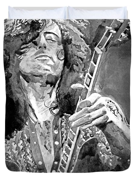 Jimmy Page Mono Duvet Cover