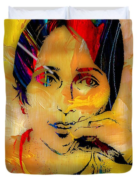 Joan Baez Collection Duvet Cover