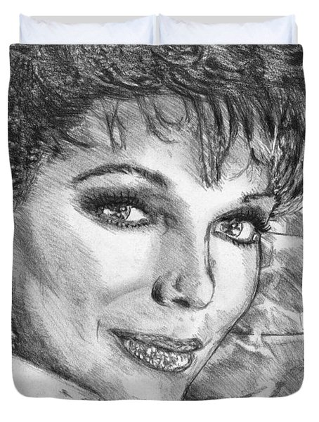 Joan Collins In 1985 Duvet Cover by J McCombie