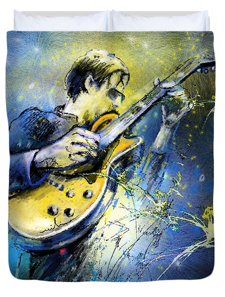 Joe Bonamassa 01 Duvet Cover by Miki De Goodaboom