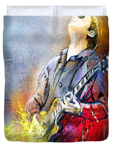 Joe Bonamassa 02 Duvet Cover by Miki De Goodaboom