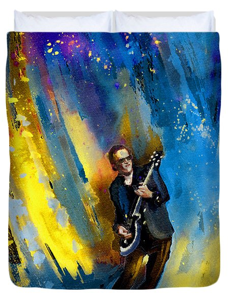 Joe Bonamassa 03 Duvet Cover by Miki De Goodaboom
