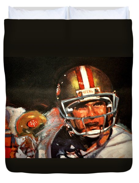 Joe Montana Duvet Cover