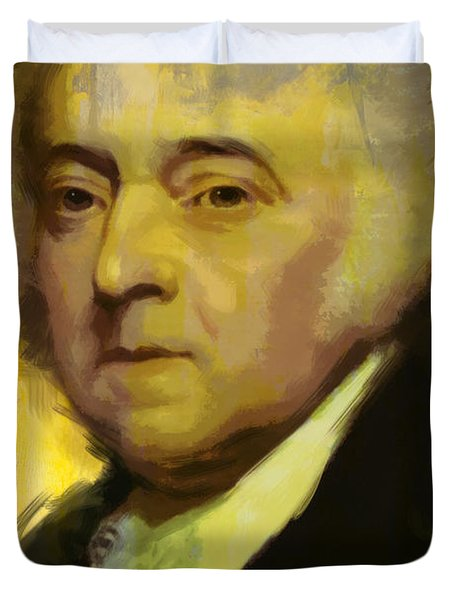 John Adams Duvet Cover by Corporate Art Task Force