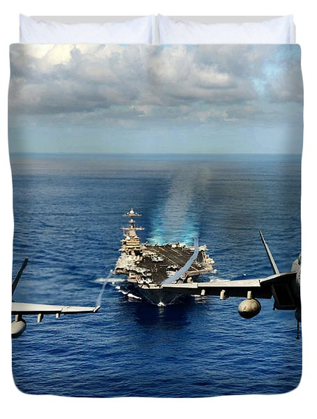 John C. Stennis Carrier Strike Group Duvet Cover by Mountain Dreams