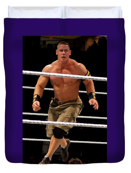 John Cena In Action Duvet Cover