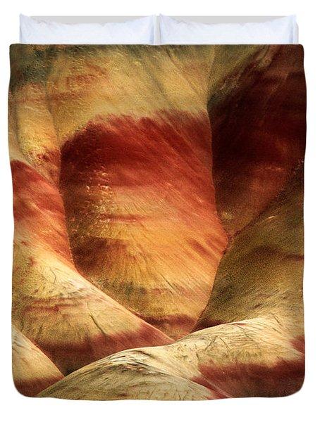 John Day Martian Landscape Duvet Cover by Inge Johnsson