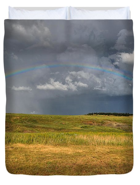 John Deer At The End Of The Rainbow Duvet Cover
