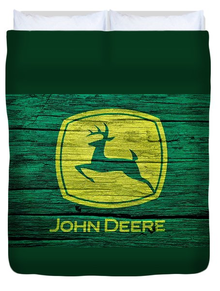 John Deere Barn Door Duvet Cover by Dan Sproul