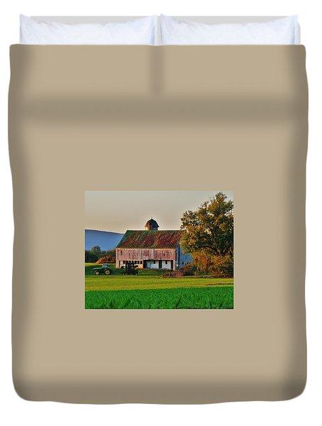 John Deere Green Duvet Cover by Robert Geary