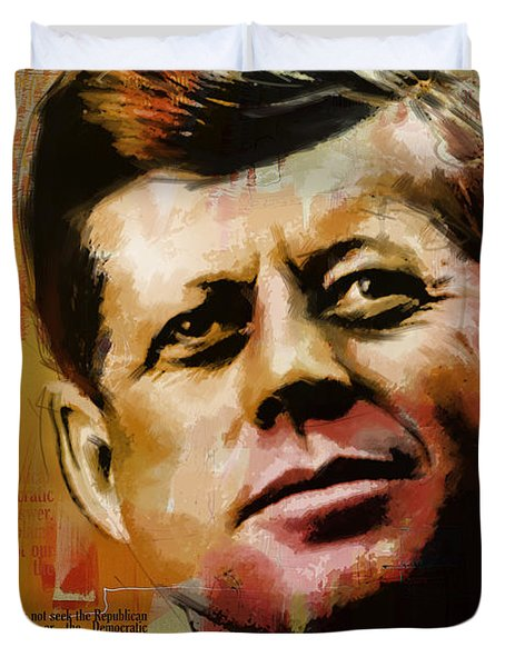 John F. Kennedy Duvet Cover by Corporate Art Task Force